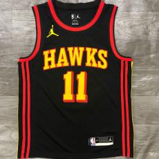HAWKS YONNG #11 Black Top Quality Hot Pressing NBA Jersey