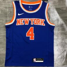 KNICKS ROSE # 4 Blue Top Quality Hot Pressing NBA Jersey