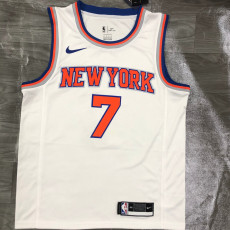 KNICKS ANTHONY # 7 White Top Quality Hot Pressing NBA Jersey