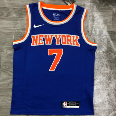 KNICKS ANTHONY # 7 Blue Top Quality Hot Pressing NBA Jersey