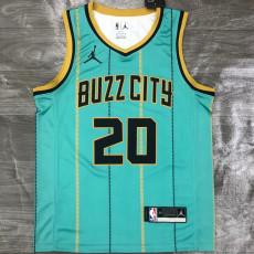 New Hornets Jordan HAYWARO #20 Green Top Quality Hot Pressing NBA Jersey