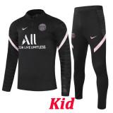 21-22 PSG Black Kids Half Pull Sweater Tracksuit (童装)