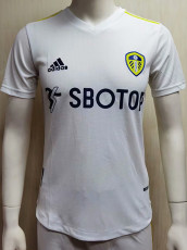 21-22 Leeds United White Player Version Soccer Jersey