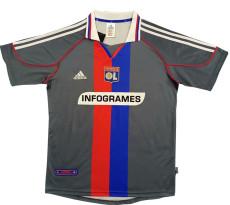 2000-2001 Lyon Away Gray Retro Soccer Jersey