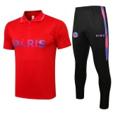 21-22 PSG Red Polo Tracksuit(胸前小飞人)