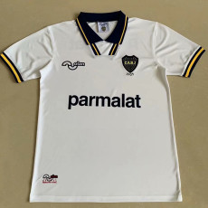1994 Boca Juniors Away White Retro Soccer Jersey (背后带广告)