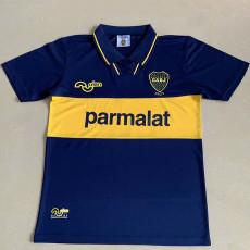 1994 Boca Juniors Home Retro Soccer Jersey (背后带广告)