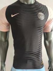 2021 PSG Black Player Version Training Soccer Jersey