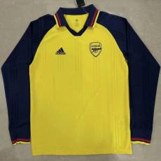 ARS Yellow Long Sleeve Retro Soccer Jersey