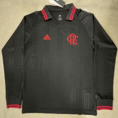 Flamengo Black Long Sleeve Retro Soccer Jersey