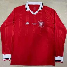 Man Utd Red Long Sleeve Retro Soccer Jersey