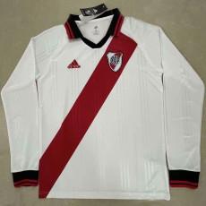 River Plate White Long Sleeve Retro Soccer Jersey