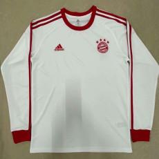 Bayern White Long Sleeve Retro Soccer Jersey