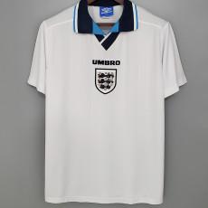 1996 England Home Retro Soccer Jersey