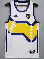 2021 Boca Juniors White basketball Jersey