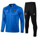 21-22 PSG Jordan  Color blue  Jacket Tracksuit