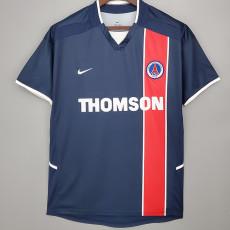 2002-2003 PSG Paris Home Retro Soccer Jersey