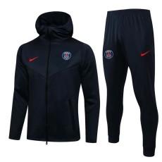 21-22 PSG Royal blue Hoodie Jacket Tracksuit
