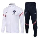 21-22 PSG Jordan White Jacket Tracksuit(高领)