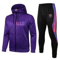 21-22 PSG Jordan Purple Hoodie Jacket Tracksuit