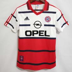 1998-2000 Bayern Away White Retro Soccer Jersey