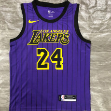 Lakers Bryant #24 Purple Top Quality Hot Pressing NBA Jersey