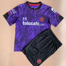 21-22 Toluca Third purple Kids Soccer Jersey
