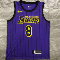 Lakers Bryant #8 Purple Top Quality Hot Pressing NBA Jersey