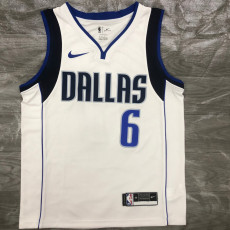 Dallas Mavericks PORZINGLS #6 White Top Quality Hot Pressing NBA Jersey