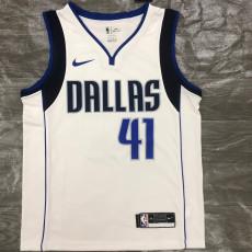 Dallas Mavericks NOWITZKI #41 White Top Quality Hot Pressing NBA Jersey