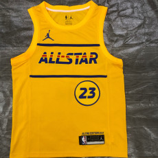 2021 ALL STAR JAMES #23 Yellow Top Quality Hot Pressing NBA Jersey