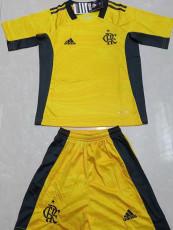 21-22 Flamengo Goalkeeper Yellow Kids Soccer Jersey
