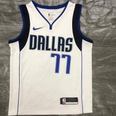 Dallas Mavericks DONCIC #77 White Top Quality Hot Pressing NBA Jersey