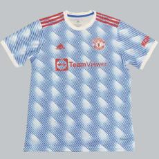 21-22 Man Utd Blue White Fans Soccer Jersey