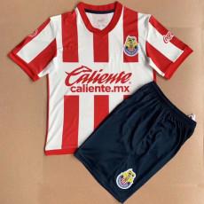 21-22 Chivas 115th Red Kids Soccer Jersey