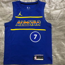 2021 ALL STAR DURANT # 7 Blue Top Quality Hot Pressing NBA Jersey