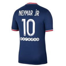 NEYMAR jR 10 #  21-22 PSG Paris Home Fans Soccer Jersey (背下广告)