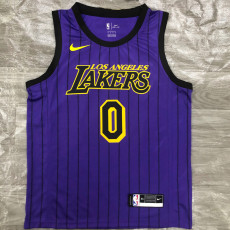 Lakers YONUG #0 Purple Top Quality Hot Pressing NBA Jersey