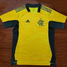 21-22 Flamengo Yellow Goalkeeper  Soccer Jersey