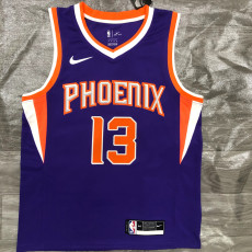 2021 SunsNASH #13 Purplee Top Quality Hot Pressing NBA Jersey
