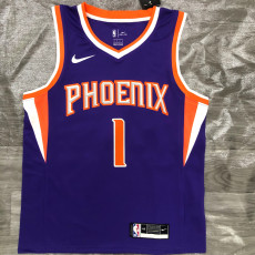 2021 Suns BOOKER #1 Purplee Top Quality Hot Pressing NBA Jersey