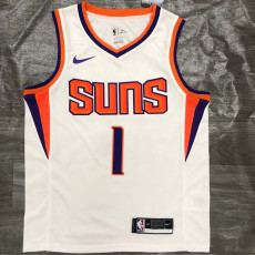 2021 Suns BOOKER #1 White Top Quality Hot Pressing NBA Jersey