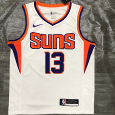 2021 SunsNASH #13 White Top Quality Hot Pressing NBA Jersey