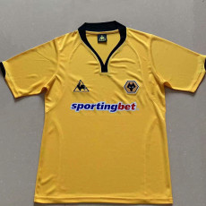 2010 Wolves Yellow Retro Soccer Jersey