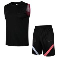 21-22 Korea Black Tank top and shorts suit