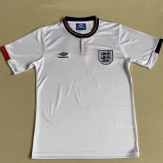 1989 England Home Retro Soccer Jersey