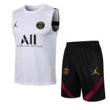 21-22 PSG Paris White Tank top and shorts suit