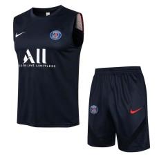 21-22 PSG Paris Royal blue Tank top and shorts suit