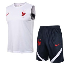 21-22 France White Tank top and shorts suit