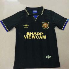 1994 Man Utd  Away Black Retro Soccer Jersey